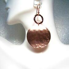 "ROSE GOLD TEXTURED LARGE DISC DROP EARRINGS- 2"" long"