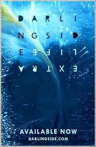 DARLINGSIDE Extra Life Ltd Ed New RARE Tour Poster +BONUS Folk Indie Rock Poster