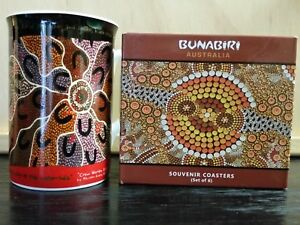 Yijan Australia Crow Women by Maureen Hudson Nampajimpa Mug + Bunabiri Coasters