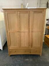 Milton Oak Triple Wardrobe The Cotswold Co Clearance