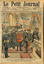 King of the United Kingdom ENGLAND Edward VII QUITTE CHERBOURG  1903
