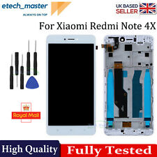 LCD Replacement For Xiaomi Redmi Note 4X White Screen Touch Digitizer Frame+Tool