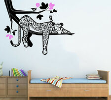 Leopard Wall Decal for Kids Room - Jungle Animal - Large Wall Stickers for Nurse