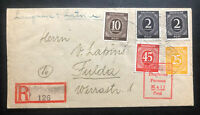 1946 Meerbeck Stadthagen Germany Displaced Person DP Latvian Camp Cover To Fulda