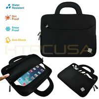"KOZMICC 7.9"" Black Sleeve Case Bag Pouch w/ Handle for Apple iPad Mini 3, 2, 1"