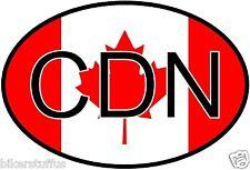 CDN CANADA COUNTRY CODE OVAL WITH FLAG STICKER LAPTOP STICKER BUMPER STICKER