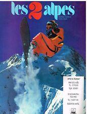 Publicité Advertising 1987 Station de Ski les 2 Alpes