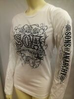 AUTHENTIC SONS OF ANARCHY TRIBAL ROSES SOA JUNIORS GIRLS T SHIRT S M L XL XXL