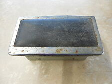 FIAT DINO 1967 REAR ASHTRAY. USED. IN CHROME AND BLACK LEATHER.