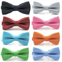 Baby Boy Kid Bow Tie Child Polka Dot Wedding Tuxedo Pre-tied Bowties Necktie