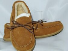 J. Crew Classic Suede Moccasin Slippers Men's Size 11 Carael Suede New