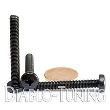 M5 x 40mm - Qty 10 - Phillips Pan Head Machine Screws - DIN 7985 A - Black Steel