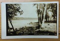 Real Photo Postcard Bathing Beach Manitoulin Island Ontario Canada INV-P960