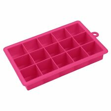 15 Cavities Silicone Mold Tool Jelly Ice Cubes Tray Pudding Mould Pink