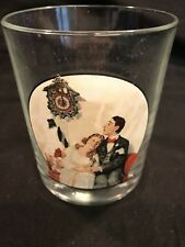 """Norman Rockwell """"The Saturday Evening Post"""" Drinking Glass """"Courting at Midnight"""
