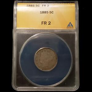 1885 Liberty Nickel 5C - ANACS FR 2 - No Reserve