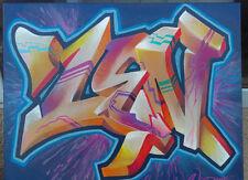 Original Graffiti art on Canvas by LA Graff Legend Zender One