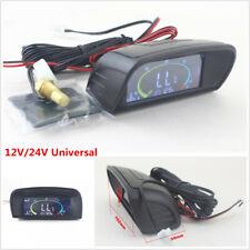 12V/24V LCD Digital Car Voltmeter Volt Gauge+Water Temperature Gauge Thermometer