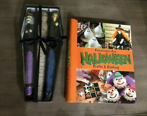 NEW Lot Vampire Mummy Witch Halloween Taper Candles, Crafts & Cooking Hard Cover