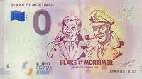 BILLET 0  EURO  BLAKE ET MORTIMER BD FRANCE  2018  NUMERO 1000