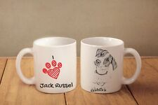 "Jack Russell Terrier - ceramic cup, mug ""I love"", Ca"