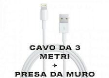 Mini Carica Batteria Usb da Muro Bianco Per Iphone 6S Plus 5C 5S iPod Cavo 3 Mt