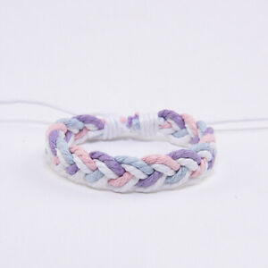 2021 New Color Wax Thread Couple Hand Rope Ethnic Wind Hand-Woven Bracelet Cuff
