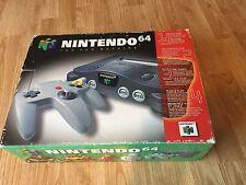 Nintendo 64 N64 Cib In Box Console Works