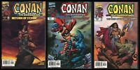 Conan the Barbarian Return of Styrm Marvel Comic set 1-2-3 Lot Parente art REH