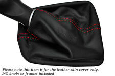 RED STITCHING MANUAL LEATHER GEAR GAITER FITS SEAT MII 2011-2015