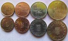 Romania set of 4 coins 2005-2012 (1+5+10+50 bani) UNC