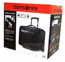 "Samsonite Mobile Office 2 Wheeled Briefcase 17"" Laptop Case Business Travel Bag"