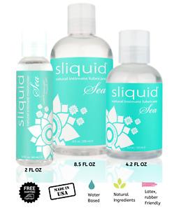 Sliquid Sea Naturals Sea Carrageenan Infused Lubricant Choose Size