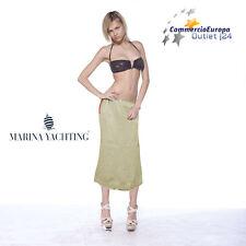 GONNA DA DONNA MARINA YACHTING TG 42 DRESS LUNGO VESTITINO COLOR SABBIA