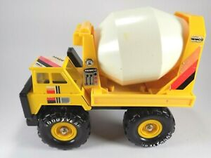 "Remco Cement Mixer Pressed Steel Truck Vintage 1986 Korea Big 10"" Construction"