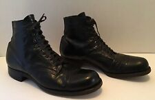 Vintage Goodyear Wingfoot Short Black Leather Boots Goodyear Sole Excellent