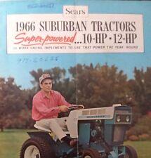 Sears 1966 Suburban 10 Custom 6 Color Sales Brochure Lawn Garden Tractor Manual