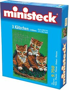 Ministeck Pixel Puzzle (31866): 3 Kittens 9750 pieces
