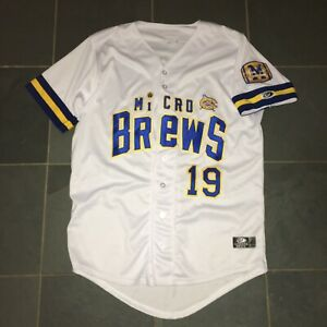 2019 Carolina Mudcats MICRO BREWS MILB Authentic Baseball Jersey 46 BREWERS