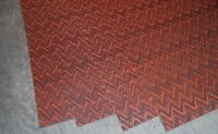 Set 4 Dining Room Weave Woven Place mats Tableware Black/Burnt Red Zig Zag   912