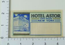 C. 1920's-30's Poster Stamp Luggage Label E6