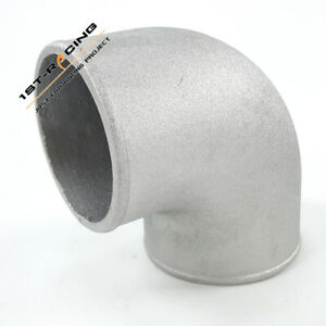 """89 mm 3.5"""" Cast Aluminum Elbow 90 Degree Pipe Joiner Intercooler Tight Bend"""