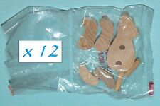 (12) Unfinished Mini Wooden Build A Bear Kits - Craft Project: Paint / Stain It