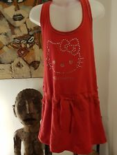 Hello Kitty Red Cotton/Elastane Jersey Dress With Diamantes Age 8 Years BNWT