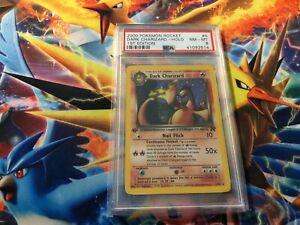 PSA 8 MINT Dark Charizard HOLO 1st Edition Team ROCKET 4/82 Pokemon Card