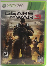 Gears of War 3  (Microsoft Xbox 360, 2011) Complete Cib TESTED AND WORKS