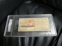 George Weiss AUTOGRAPHED Hand Signed Cancelled Check PSA Certified Encapsulated