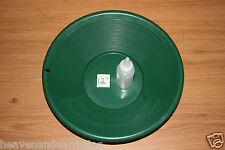 "12"" Plastic GOLD PAN Green Mining Prospecting Panning Kit SNIFTER BOTTLE"