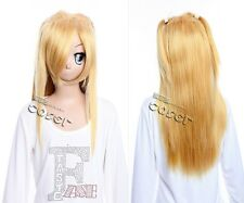W-302 DEATH NOTE Misa Amane COSPLAY ANIME MANGA Perücke Wig hitzefest blond 63cm