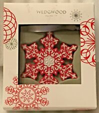 Wedgwood Christmas Red Snowflake Ornament - In original Box - Mint Condition